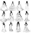 Wedding bride gown vector