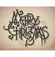 Vintage style christmas card vector