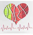 Abstract background with color strip heart vector
