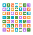 Set of color web icons vector