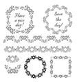 Decorative vintage frames and design elements vector
