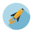 Rocket flat icon long shadow vector