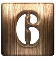 Wooden figure 6 vector