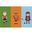 Pixel art style - sportsman football vector