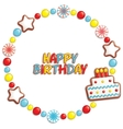 Birthday candy vector