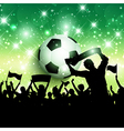 Silhouette of a football soccer crowd background vector