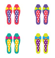 Set of colorful women shoes vector