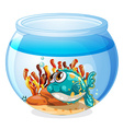 A fish inside the aquarium vector