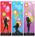 Sexy and beauty girls in various poses vector
