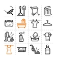 Washing icons vector