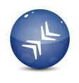 Blue icon with arrows vector
