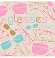 Vintage glasses pattern vector