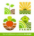 Symbols farm vector