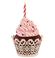 Cake candle vector