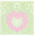 Vintage floral heart frame vector