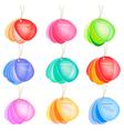 Set of colorful speech bubbles vector