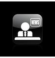 Tv news icon vector