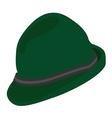 Green german hat vector