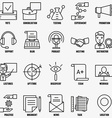 Set linear business education icons - part 2 vector