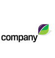Logo with green energy sport vector