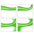 Green wave - business templates vector