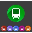 Train travel railway flat icon badge logo set vector