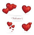 Valentine heart sign set red color vector