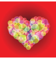 Bubble heart vector