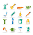 Kitchen and household tools vector