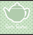 Cute tea time card vector