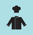 Chef hat and shirt vector