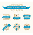 Set vintage ornate decor vector