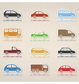 Cars icons vector