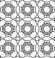 White squares and geometric flowers on gray vector