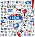 Doodled icons vector