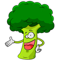Cartoon broccoli vector