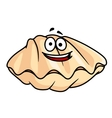 Cartoon clam shell or mussel vector