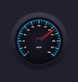Speedometer blue vector