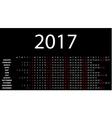 Horizontal calendar for 2017 vector