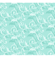 Simple floral green seamless vector