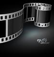 Realistic reel film vector