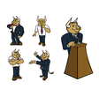 Bull suit poses vector