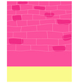 City street wall pattern vector