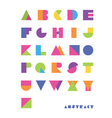Bright abstract font vector
