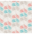 Bicycles seamless pattern in retro style vector