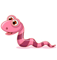 Cute little worm cartoon vector