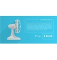 Flat minimalist template business design gray fan vector