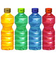 Four water bottles vector