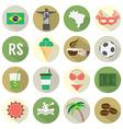 Flat design brazil icons set vector