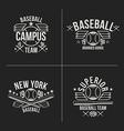 Baseball team emblems vector